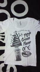 RODEO CROWNS〓POP CreamスカルTシャツ/S