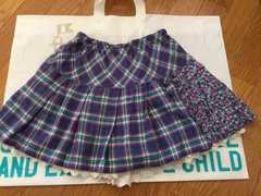 KP*mimiちゃん☆チェック×花柄 インパン付スカート☆150cm☆