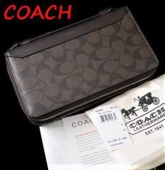 即落【新品】コーチ長財布★セカンドバッグ ダブルジップ