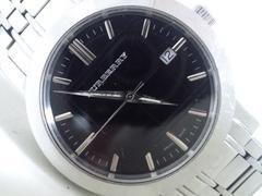 3138/バーバリー定価10万円位BU1364ブラックダイヤル☆メンズ腕時計
