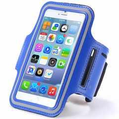 iphone8/7/6s アームバンド ランニングケース ブルー