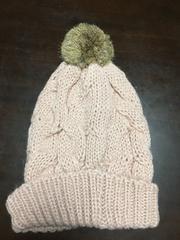 新品セシルマクビーCECILファーポンポンニット帽子ピンクスキーボードゲレンデアクセサリー