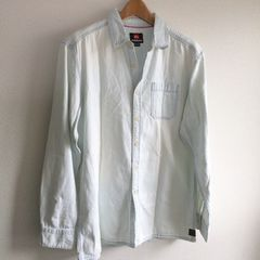 ◆QUIKSILVER/クイックシルバー◆ダンガリーシャツ★デニムシャツ*美品♪