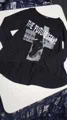 黒のデザイン長Tシャツ★Mサイズ★