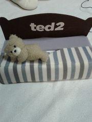 ted2ベッド型ティッシュBOXカバー新品