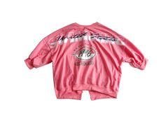 新品 背中開き 編み上げリボン ロゴ トレーナー ピンク 韓国