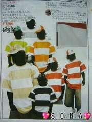 【PJ MARK】ヒップホップ.ストリート.B系サーマルボーダーTシャツレッド