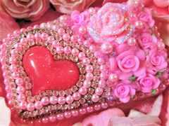 【新品】デコ印鑑ケースD 実印 ハンコ 姫 印章 薔薇