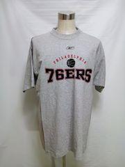 276NBAフィラデルフィア76ERSシクサーズ リーボック Tシャツ グレー