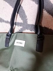 新品☆BEAMSレザーハンドル仕様BIGサイズトートバッグ