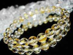 『厄除け』天然石3A本水晶六字真言金彫り約8ミリ24粒数珠
