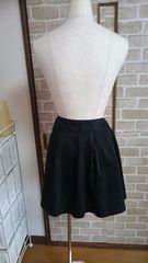 美品 スカート 記載サイズL 黒色