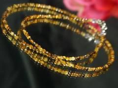 光り輝くカットタイガーアイ2ミリ数珠ネックレス!!3WAY
