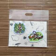 ディズニー・チップ&デール刺繍2WAYアイロンワッペン
