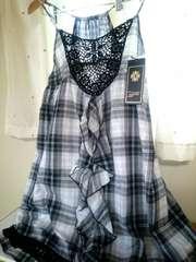 キャミワンピ☆胸元レース編み*大きめサイズ*新品タグ付き*