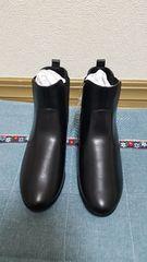 サイドゴアショートブーツ(黒)22.5cm 新品タグ付き