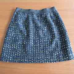▽INDIVI▽ ツイードスカート ネイビー 36