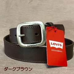 LEVI'S リーバイス 牛革 ベルト 35mm 6021 ダークブラウ