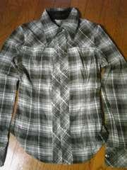 moussyグレーチェックネルシャツ