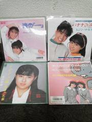 うしろゆびさされ組、吉沢秋絵、シングルレコード4枚セット中古