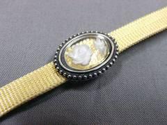わけあり品 かわいい小さな帯留め 銀色系・花模様 1214 新品