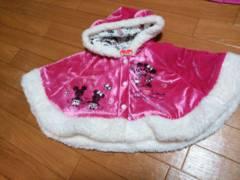 ☆新品 ミニーちゃん ふわふわポンチョ☆70cm