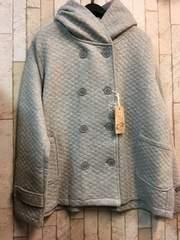新品☆4Lナチュラル柔らかキルティングジャケットフード付j851
