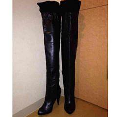 ジョンガリアーノ ニーハイ ブーツ ロングブーツ 黒 23cm