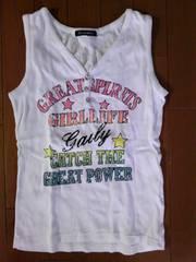 160サイズ袖なしTシャツ一回使用の美品!