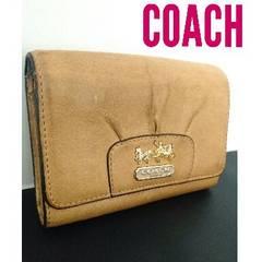 正規 COACH レザー 財布 オールドコーチ ベージュ キャメル