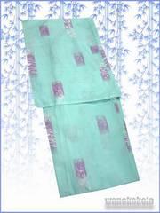 【和の志】夏の洗える着物◇絽Mサイズ◇青緑系・古典柄◇76