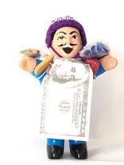 新品〈エケコ人形〉幸せを運ぶお人形(ブルー)M