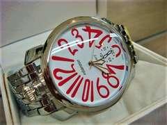 正規VITAROSOシルバーベルト腕時計◆GAGAガガミラノtype◆