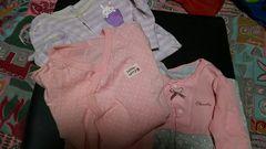 ピンク★女の子☆*キュート。ロンパース3まいセット☆size60-70