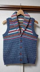 ◆amugrin◆アムグリン模様編みウールニットベスト