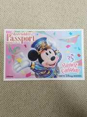 ディズニー 株主パスポート 35周年 ミッキー柄 大人1枚