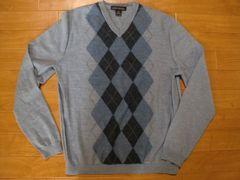 バナナリパブリック アーガイル メリノウール セーター S