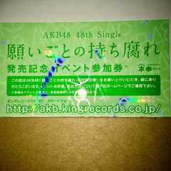 AKB48 願いごとの持ち腐れ 全国握手券 参加券 2枚 #好きなんだ