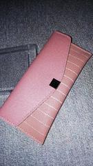 シンプルな長財布(ピンク)