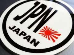 ○円形 旭日旗ステッカー JPN 日本国旗シール