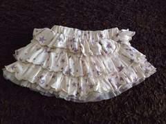 ミッキープリントのふりふりスカート   90サイズ