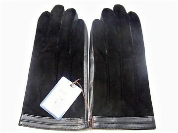 スマホ・タッチパネル対応 手袋 新品 24cm 黒 c