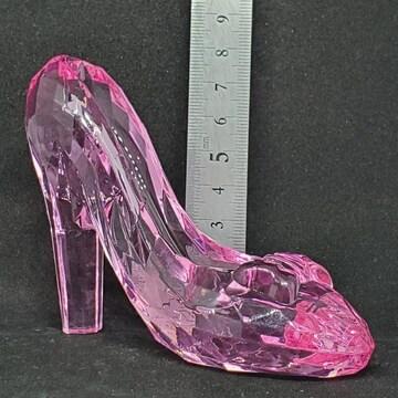 新品*アクリルアイス*ガラスの靴*クリスタル*ピンク*フィギュア