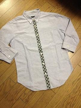 美品SHIPS JET BLUE  シャンブレーシャツ 日本製 シップス
