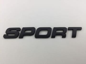 汎用品☆Sportスポーツ☆マットブラック☆ステッカー