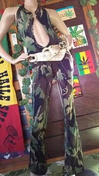 露出ッ(*´艸`)迷彩ジャンプスーツ/オールインワン★B系Low