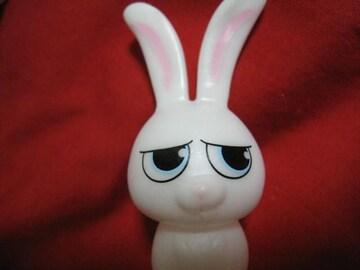 レア限定 ペット ウサギ スノーボール 押すと音が鳴るミニフィギュアマスコット 非売品