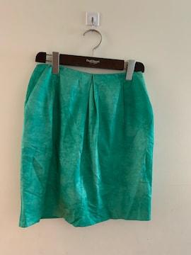DES PRESデプレ シルク混キレイ色ミニスカート サイズ0
