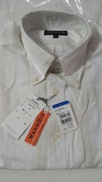 【新品タグ付】PARIS 長袖シャツL ホワイトストライプ