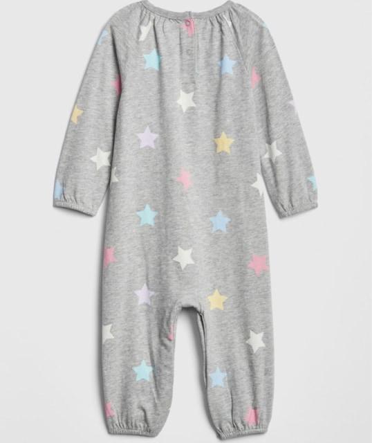 新品 babyGAP☆60 スター柄 ロンパース グレー ベビー服 ギャップ < ブランドの